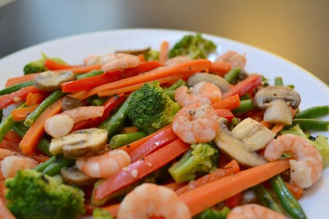 Basil Shrimp Stir Fry.